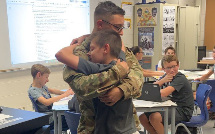 Army Surprise for CJHS Brothers
